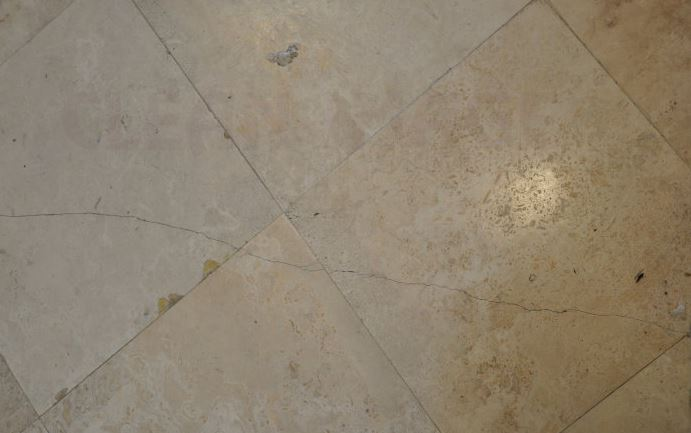 how to fix a cracked floor tile