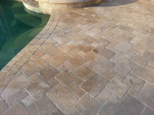 Travertine Tiles In An Exterior Setting